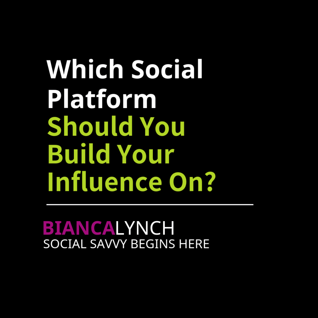 Which Social Platform Should You Build Your Influence On_